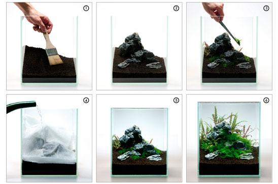 NS 063 / NanoNature, Samurai-Rock aquadeco